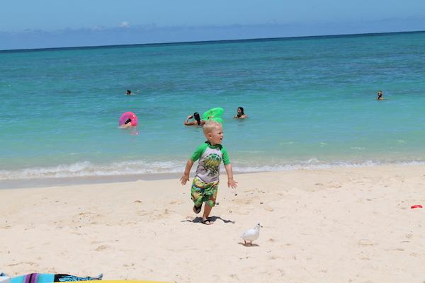 ラニカイビーチで会ったqute boy