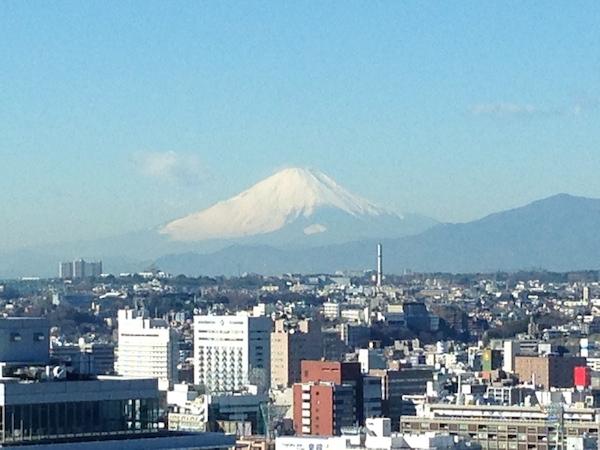 マリンタワーから富士山が見えました