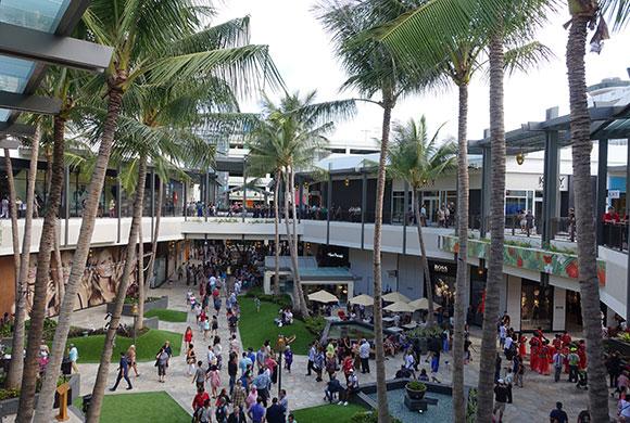 アラモアナセンター、バレーパーキング、ハワイ、ショッピング、便利