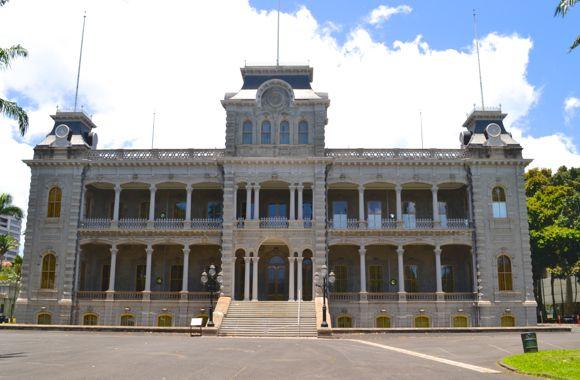 iolani_palace、イオラニ宮殿、ダウンタウン、ハワイ