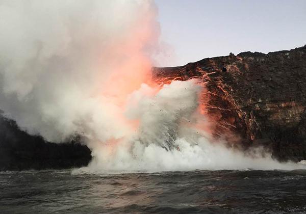 ハワイ島のキラウエア火山