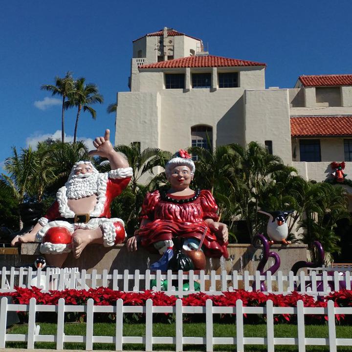 Hawaiian Santa Claus