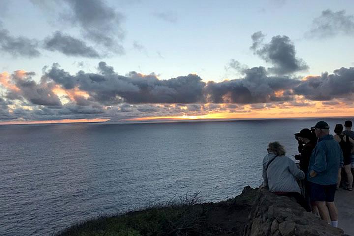 マカプウの展望台から見えるモロカイ島