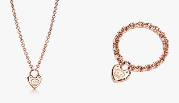 RETURN TO TIFFANY® LOVE LOCK NECKLACE&BRACELET