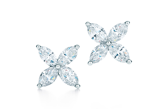 TIFFANY VICTORIA EARRINGS IN PLATINUM WITH DIAMONDS