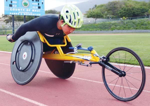 2020年の東京パラリンピック出場を目指す車椅子陸上の西勇輝選手
