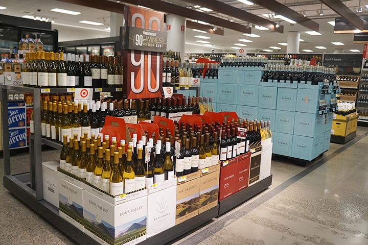ターゲットのワインコーナー
