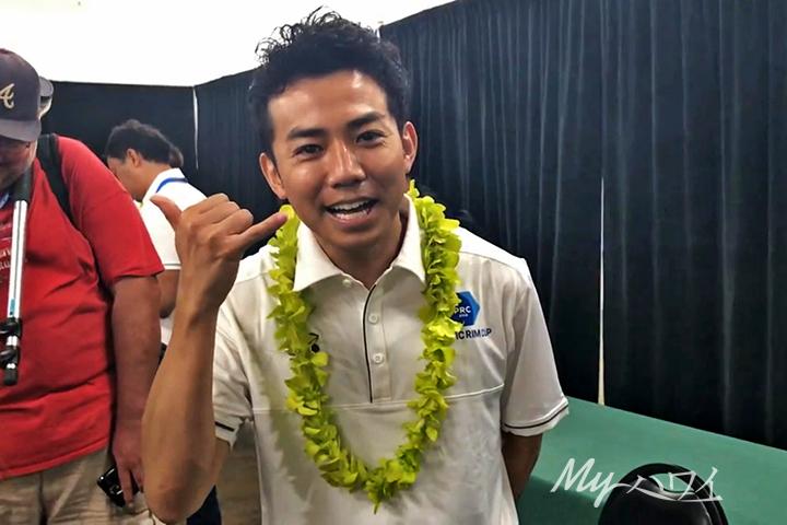 ピース綾部にハワイでインタビュー