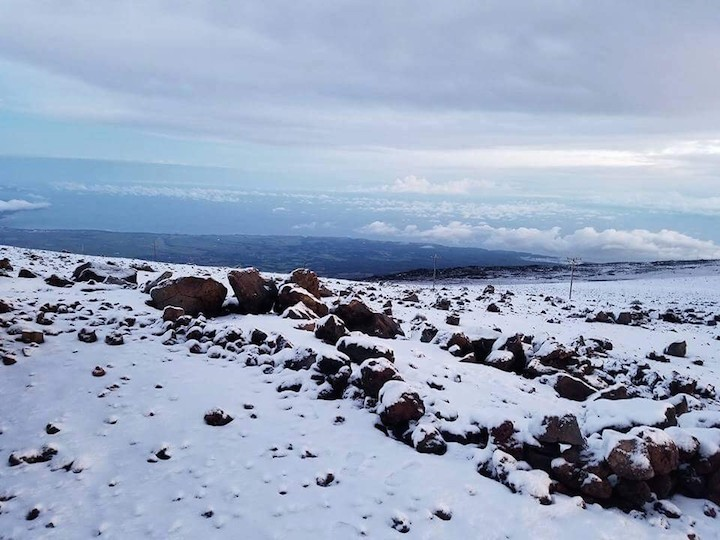 haleakala covered with snow