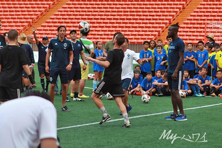 Keiki Soccer Clinic at Aloha Stadium