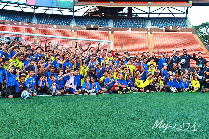 Keiki Soccer Clinic Gathering Photo