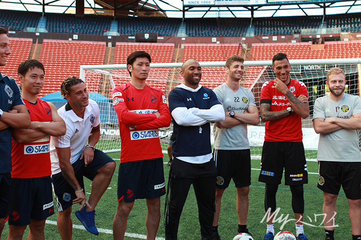 Soccer Players from Japan and America at Aloha Stadium Hawaii