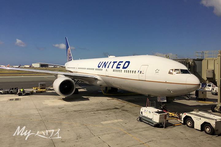 ユナイテッド航空機がハワイに緊急着陸