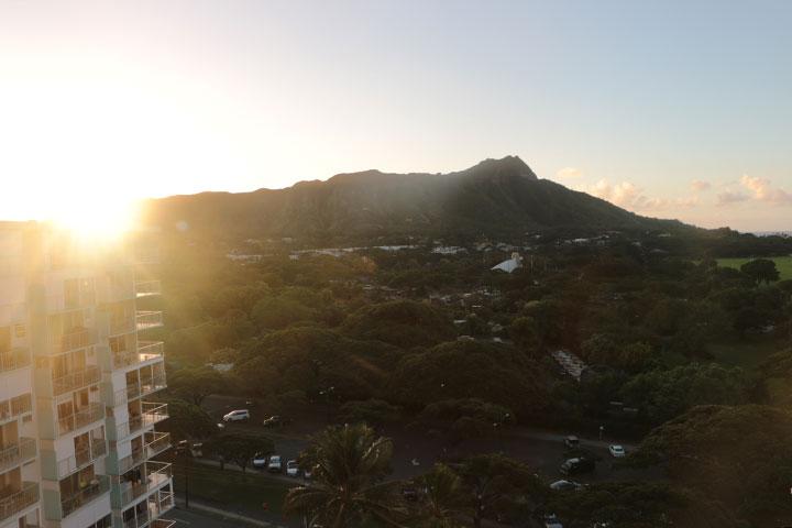 ダイヤモンドヘッド、絶景、ハワイ
