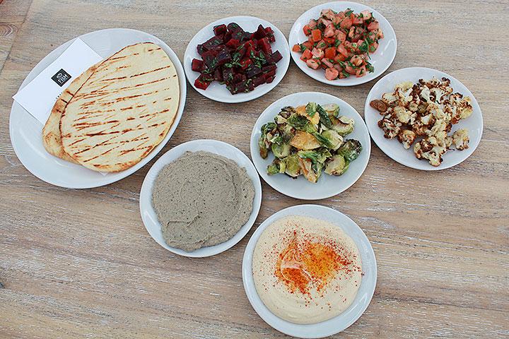フィッシュホノルル、地中海野菜の盛り合わせ