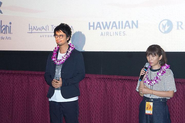 齊藤工がハワイの映画館でblank13を上映