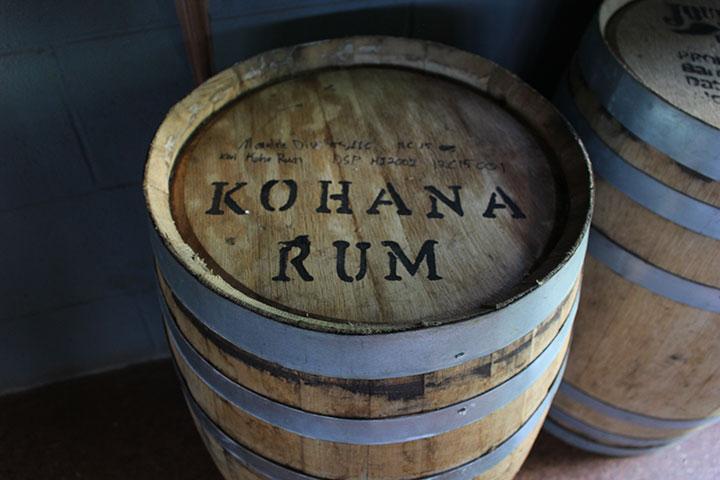 コハナ・ラム ラム酒樽