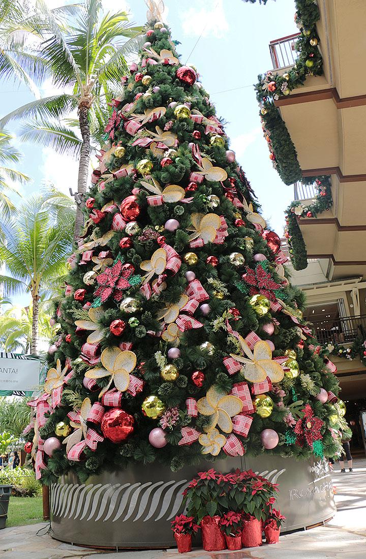 ロイヤルハワイアンセンター、クリスマスツリー