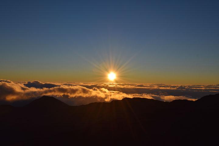 일출, 할레아칼라 산 마우이