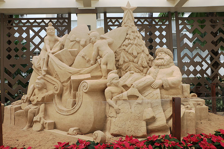 ハワイのクリスマス、シェラトンワイキキ