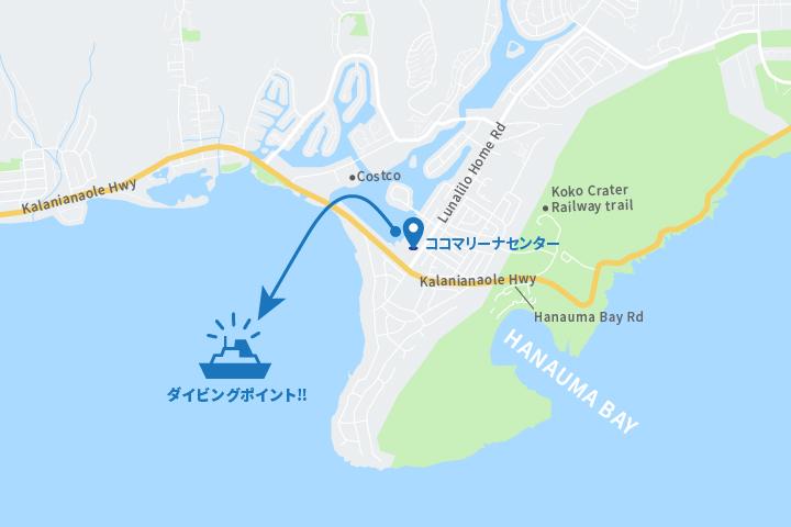 ハワイ旅行、水中スクーター