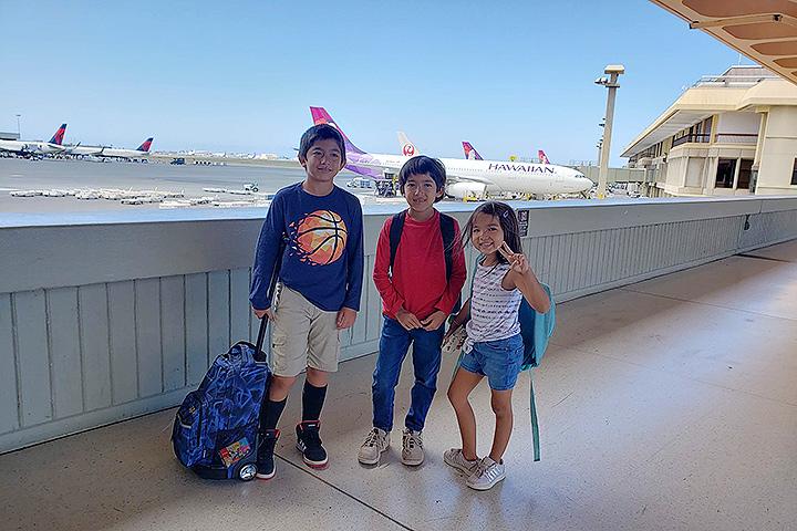 子連れのハワイ旅行、ホノルル空港