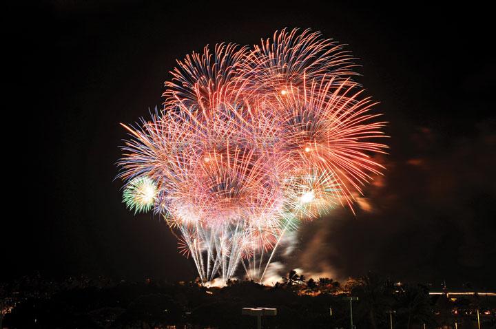 アラモアナセンター、花火