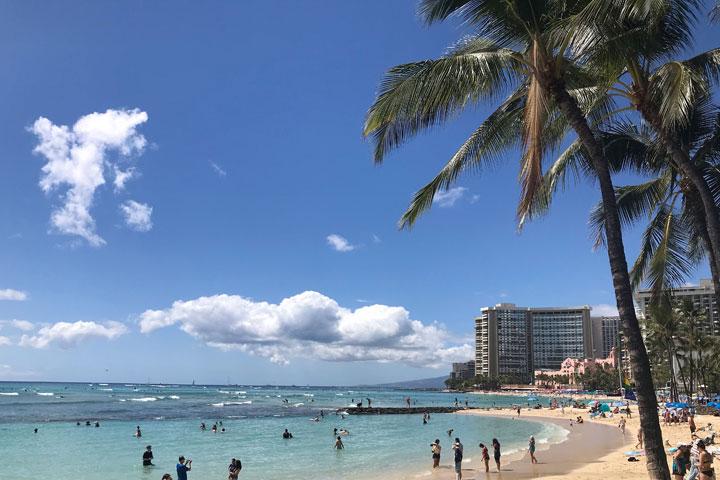 ハワイ、ワイキキ