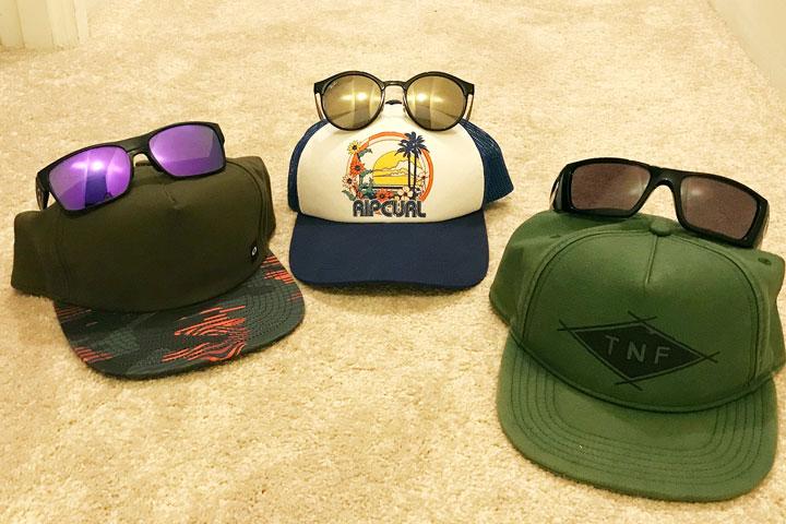 ハワイ旅行、持ち物。サングラス、帽子