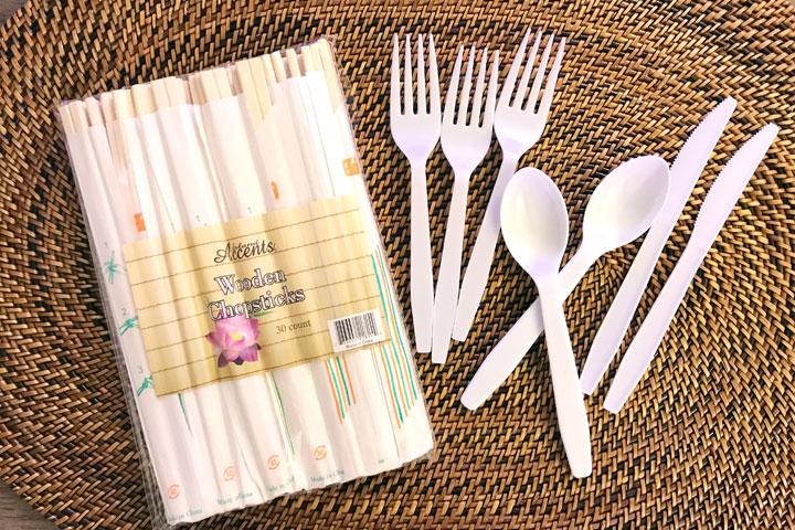 ハワイ旅行、持ち物、割り箸、スプーンフォーク、ナイフ