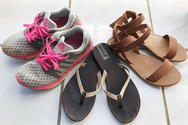 ハワイ旅行、持ち物、靴