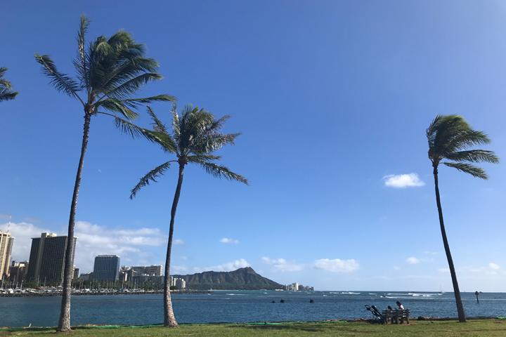 ハワイ、ダイヤモンドヘッド